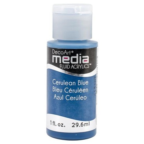 Decoart Media Fluid Acrylic Paint - Cerulean Blue