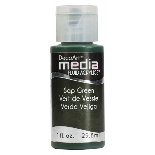Decoart Media Fluid Acrylic Paint - Sap Green