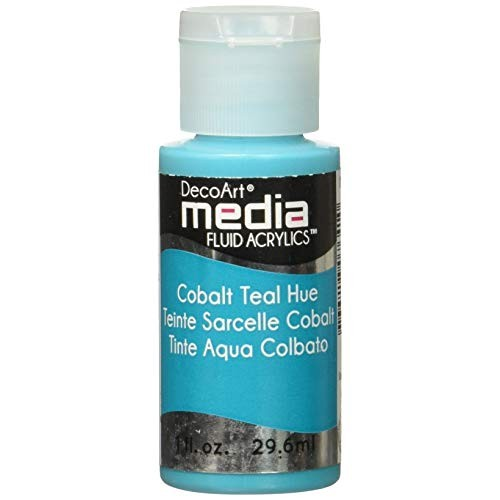 Decoart Media Fluid Acrylic Paint - Cobal Teal