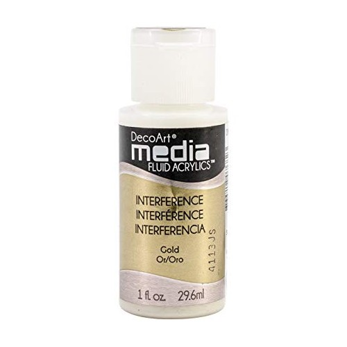 Decoart Media Fluid Acrylic Paint - Gold interference