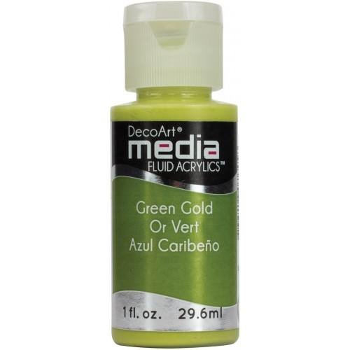 Decoart Media Fluid Acrylic Paint - Green gold