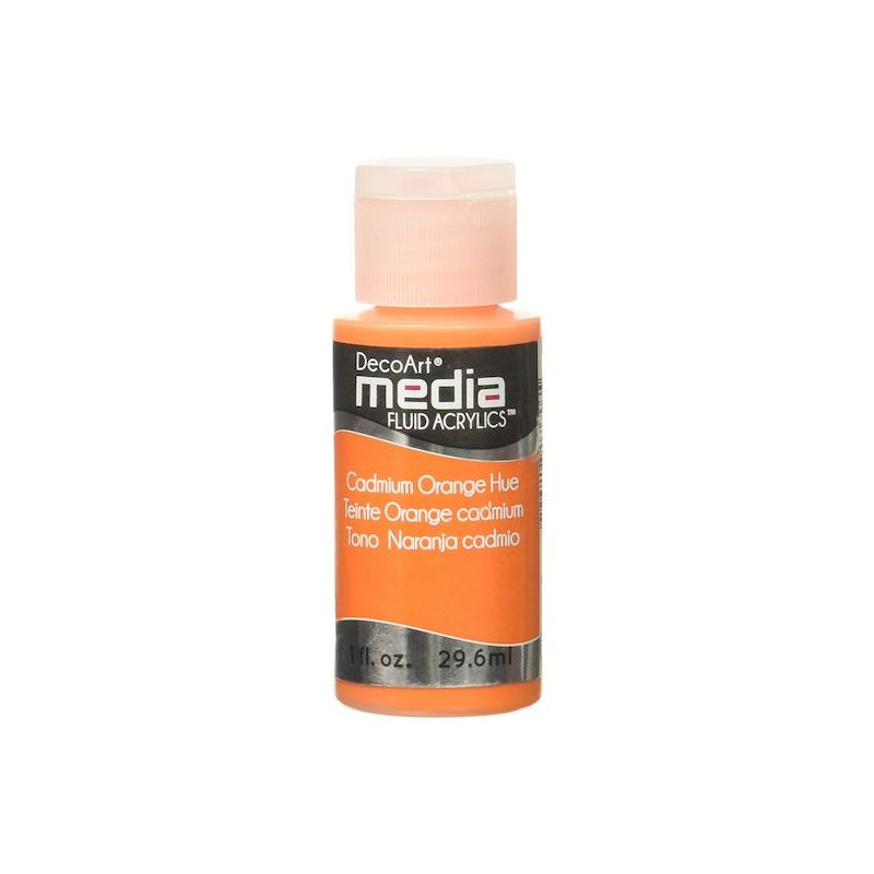 Decoart Media Fluid Acrylic Paint - Cadmium Orange