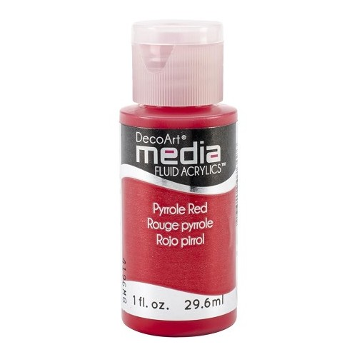 Decoart Media Fluid Acrylic Paint - Pyrrole Red