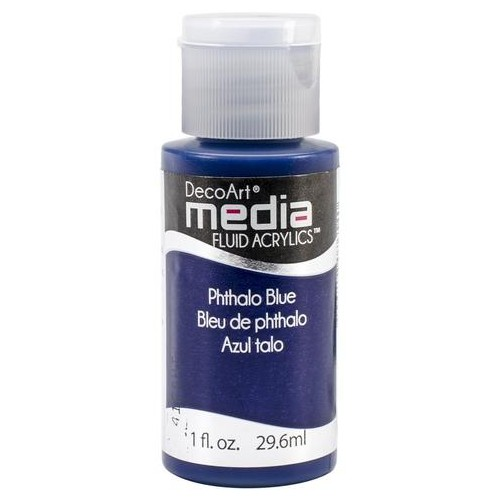 Decoart Media Fluid Acrylic Paint - Phthalo Blue