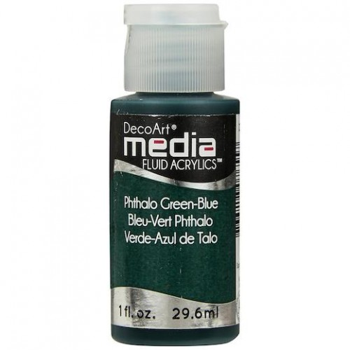 Decoart Media Fluid Acrylic Paint - Phthalo Green-Blue