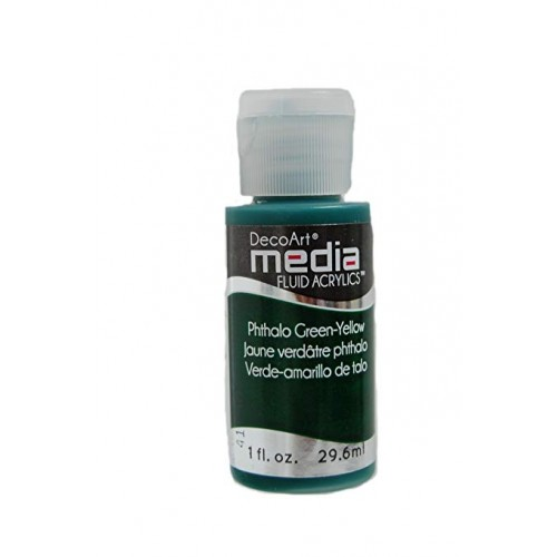 Decoart Media Fluid Acrylic Paint - Phthalo Green-Yellow