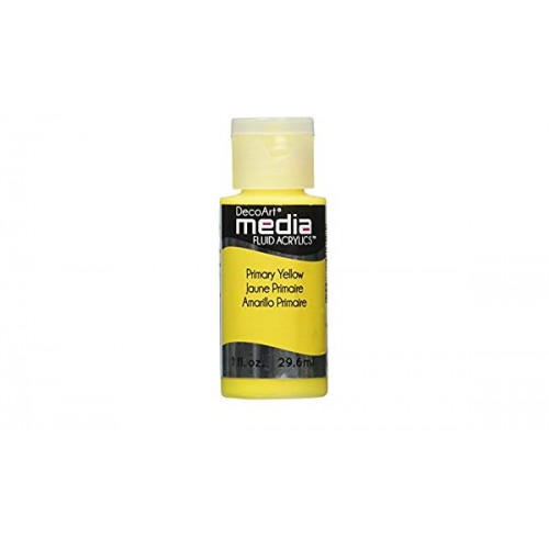 Decoart Media Fluid Acrylic Paint - Primary Yellow