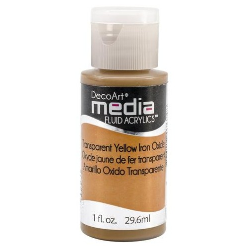 Decoart Media Fluid Acrylic Paint - Yellow Iron Oxide