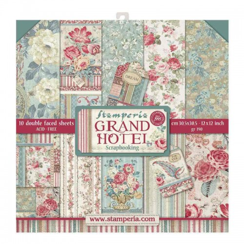Kit de papeles de Scrapbooking Stamperia - Grand Hotel