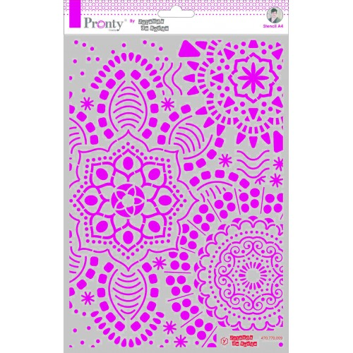 Pronty Crafts Mandala Background Stencil