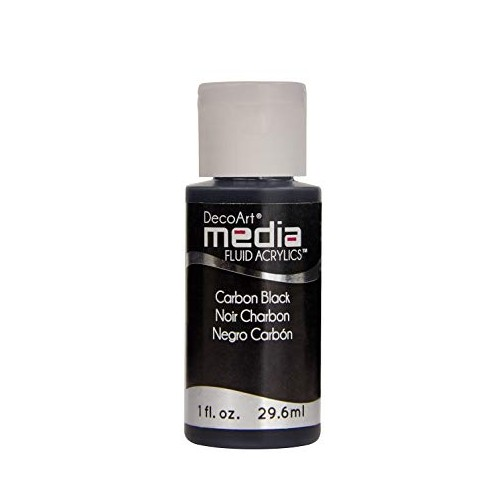 Decoart Media Fluid Acrylic Paint - Carbon Black