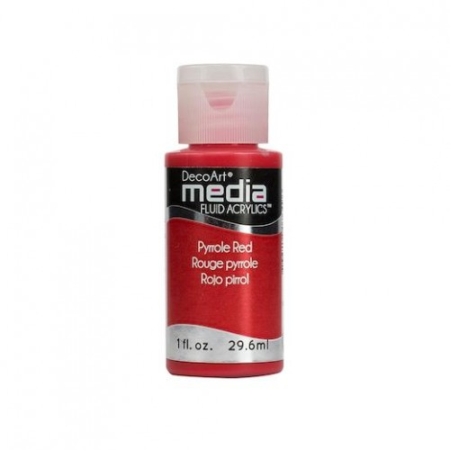 Decoart Media Fluid Acrylic Paint - Napthol Red Light