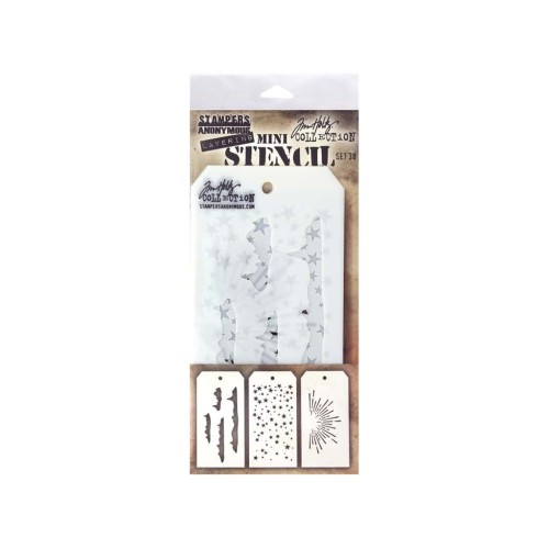 Kit Mini Stencil By Tim Holtz - Set 38