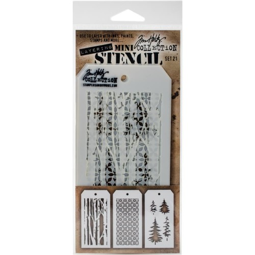 Kit Mini Stencil By Tim Holtz - Set 21
