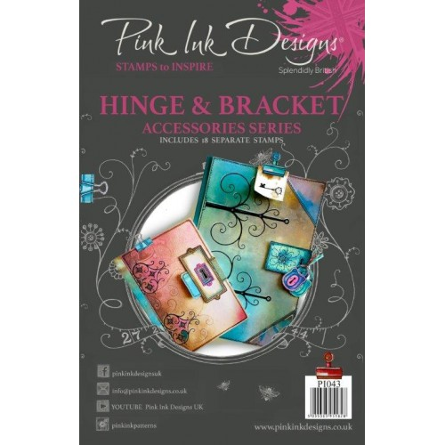 Kit de sellos acrílicos Pink Ink Designs - Hinge & Bracket