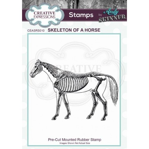 Sello de caucho Skeleton of a Horse by Andy Skinner
