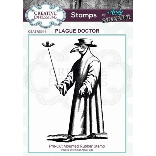 Sello de caucho Plague Doctor by Andy Skinner