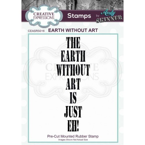 Sello de caucho Earth Without Art by Andy Skinner