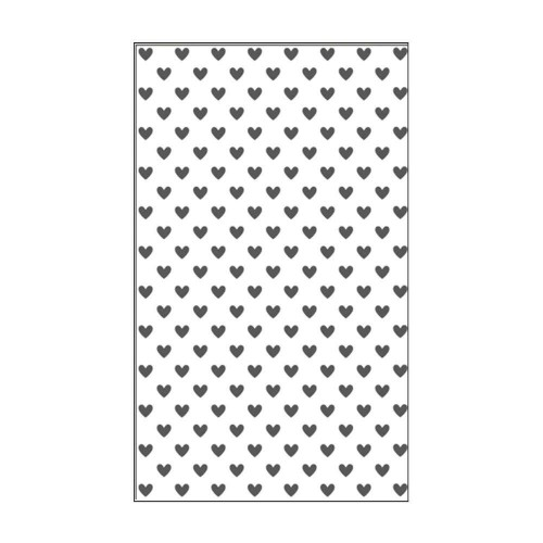 "Carpeta de embossing 3"" x 5"" hearts"