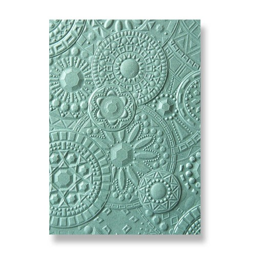 Carpeta de embossing 3D Sizzix by Courtney Chilson mosaic gems