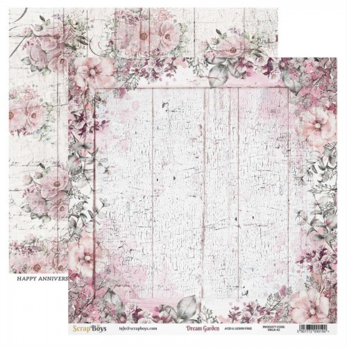 Papel 30 x 30 Dream Garden 02 - Scrapboys