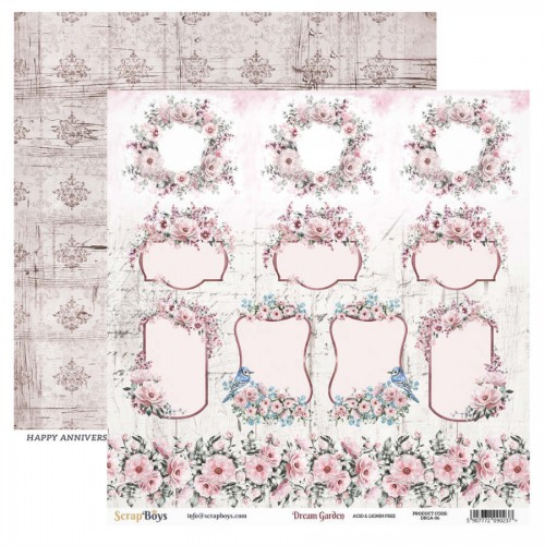 Papel 30 x 30 Dream Garden 06 - Scrapboys