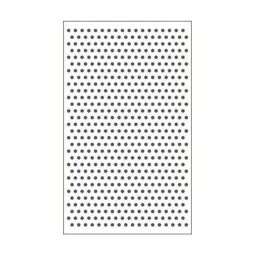 "Carpeta de embossing 3"" x 5"" dots"