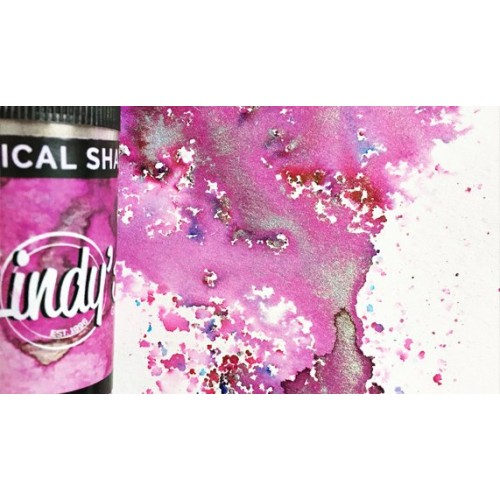 Magical Shakers de Lindy's Stamp- Magnolia Magenta Gold