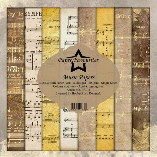 Kit de papeles 30 x 30 Music Papers - Paper Favourites