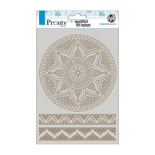 Kit de Chipboards de Mandala y bordes A5 - Pronty Crafts