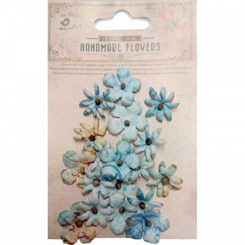 Kit de flores Little Birdie - Flores mini azul