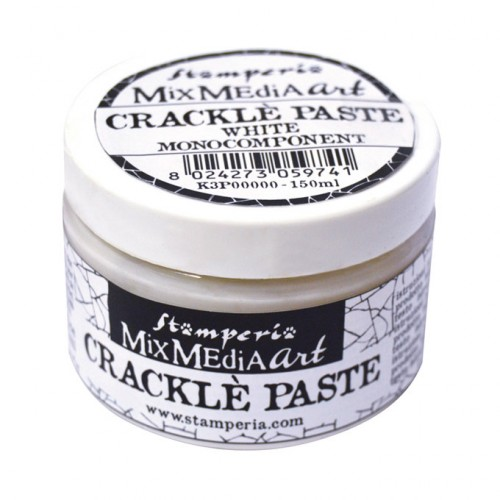 Crackle Paste blanco monocomponent 150 ml. Stamperia