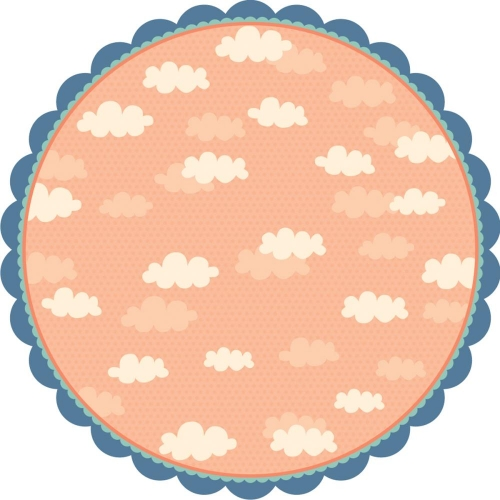 Playtime Decorative Edge Die-Cut Paper - Walk In The Clouds