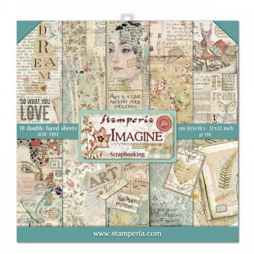 Kit de papeles de Scrapbooking Stamperia - Imagine