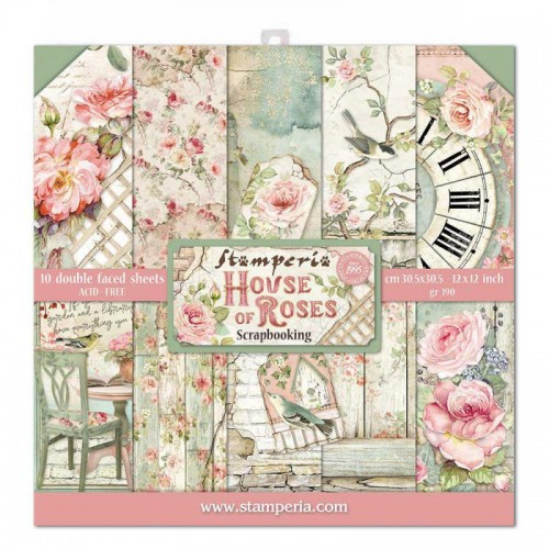 Kit de papeles de Scrapbooking Stamperia - House of Roses