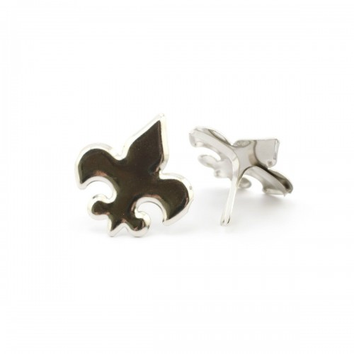 Kit de 50 mini brads Star Silver - Flor de lis