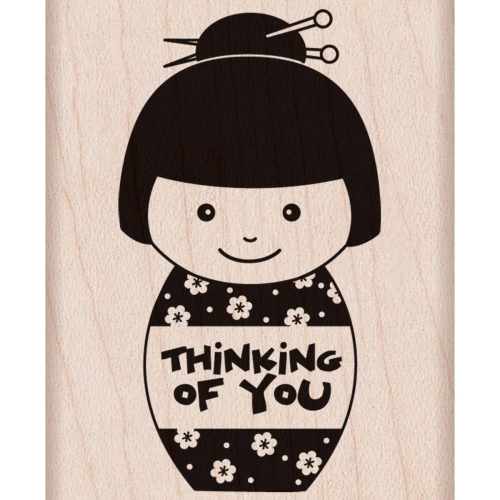 Hero Arts Mounted Rubber Stamp - Thinking Of You Girl