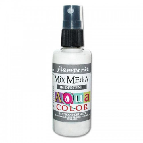 Tinta en Spray Aquacolor Stamperia. Pearl White