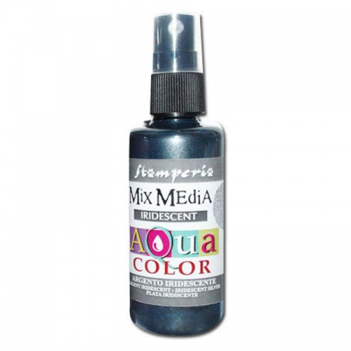 Tinta en Spray Aquacolor Stamperia. Plata
