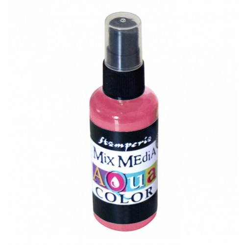 Tinta en Spray Aquacolor Stamperia. Antique Pink