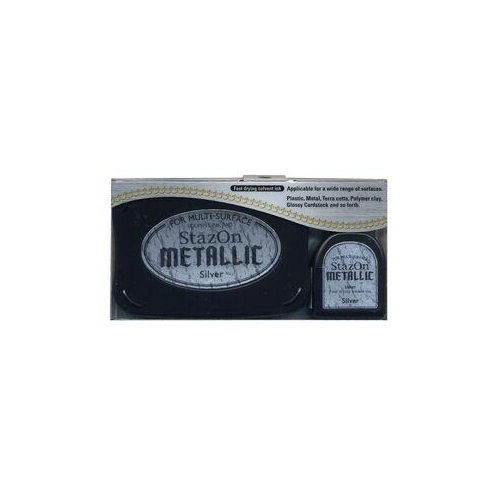 Silver - Stazon Metallic Ink Pad