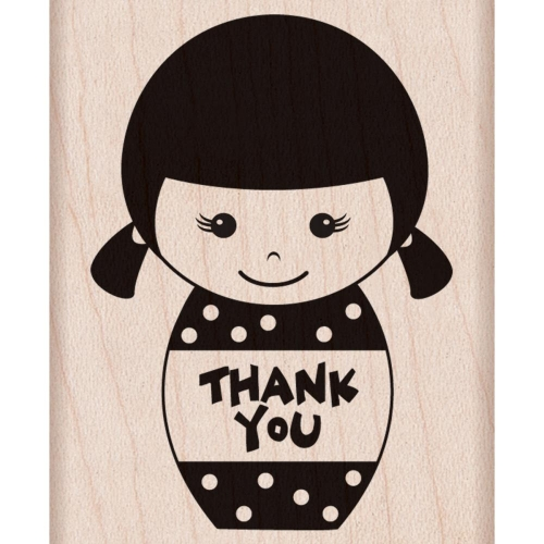 Hero Arts Mounted Rubber Stamps - Thank You Girl