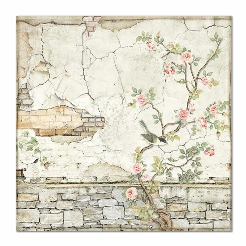 Kit de papeles de Scrapbooking 20 x 20 cm. Stamperia - House of Roses