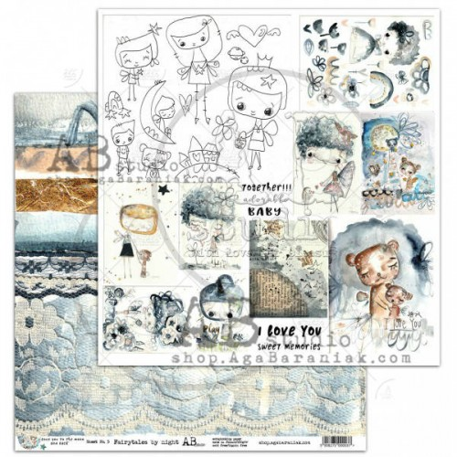 "Scrapbooking paper ""I love you to the moon..."""