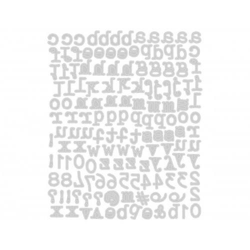 Set 146 troqueles Sizzix THINLITS Alphanumeric tiny type lower by Tim Holtz