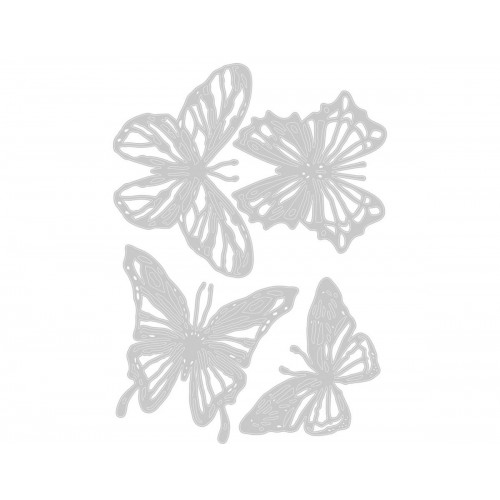 Set 4 troqueles Sizzix THINLITS Scribbly butterflies by Tim Holtz