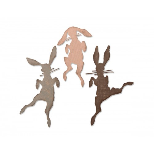 Set 3 troqueles Sizzix THINLITS Bunny hop by Tim Holtz