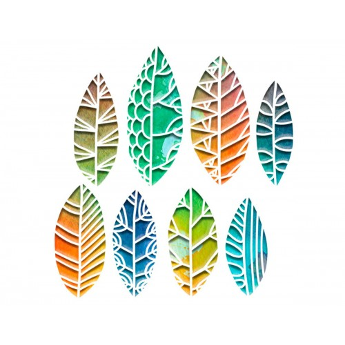 Set 8 troqueles Sizzix THINLITS Cut out leaves by Tim Holt