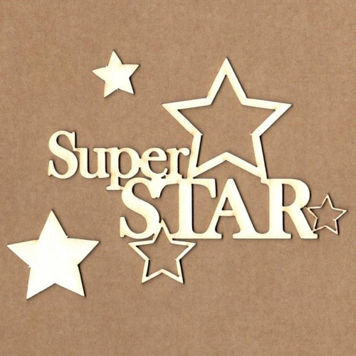 "Chipboard Kora Projects ""Super star"""