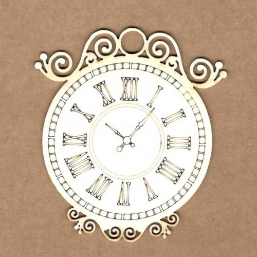 "Chipboard Kora Projects ""Reloj vintage"""